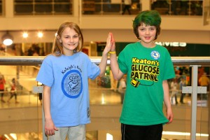 High fives with her T1D Buddy at the 2013 Walk to Cure Diabetes