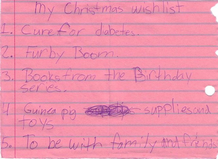 Cure, the #1 wish on my daughter's list every year.