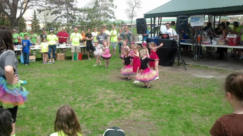Watching these little ones perform at the end of the JDRF walk today was priceless. They made the crowd smile.